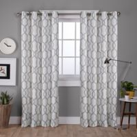 Kochi 84-Inch Grommet Top Room Darkening Window Curtain Panel Pair in Light Grey
