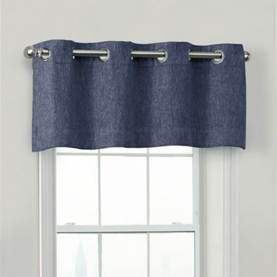 Quinn Blackout Valance In Navy