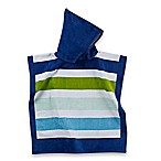 Cotton Blue Stripe Kids Hooded Towel