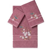 Linum Home Textiles SPRING TIME Embellished Bath Towels in Rose (Set of 3)