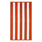 Wamsutta® Yarn Dyed Stripe Luxury Beach Towel in Orange