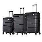 DUKAP® Rodez 3-Piece Expandable Hardside Luggage Set in Black