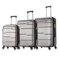 DUKAP® Rodez 3-Piece Hardside Spinner Luggage Set in Charcoal