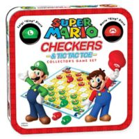 Super Mario Checkers and Tic Tac Toe Game Set