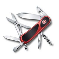 Victorinox Swiss Army Evolution Grip 14-Function Knife in Red/Black
