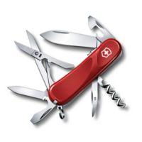 Victorinox Swiss Army Evolution Grip S14 14-Function Knife in Red