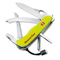 Victorinox Swiss Army Rescue Tool 15-Function Knife in Yellow with Red Pouch