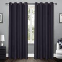 Loha 108-Inch Grommet Top Window Curtain Panel Pair in Blue Teal