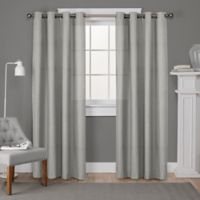 Loha 108-Inch Grommet Top Window Curtain Panel Pair in Light Grey