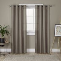 Loha 96-Inch Grommet Top Window Curtain Panel Pair in Cafe