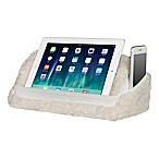 Sherpa 2-in-1 Travel Tablet Pillow in White