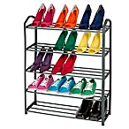 Smart Design 15-Pair 5-Tier Shoe Rack in Grey
