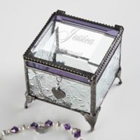 Wedding Reflections Vintage Clear Jewelry Box