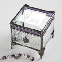 There is Only You Vintage Clear Jewelry Box