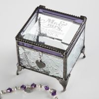 Happy Couple Vintage Clear Jewelry Box