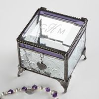 Classic Celebrations Monogram Vintage Clear Jewelry Box