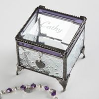 Name Vintage Clear Jewelry Box