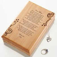 A Poem For Her Engraved Wood Jewelery Box