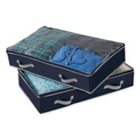 Studio 3B™ Underbed Storage Bags in Peacoat (Set of 2)