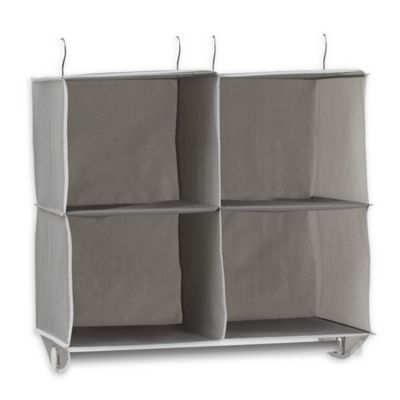 Studio 3B™ 4 Shelf Hanging Cubby Organizer In Grey