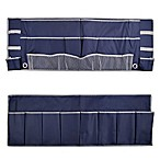 2-Piece Footboard Bedside Organizer Caddy in Peacoat