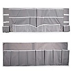 2-Piece Footboard Bedside Organizer Caddy in Grey