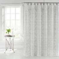 Coopers Beach Shower Curtain in White