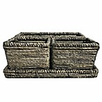 Baum Christina 4-Piece Binded Maize Divided Vanity Storage Tray Set