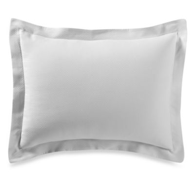 Diamond Matelassé Standard Pillow Sham in White