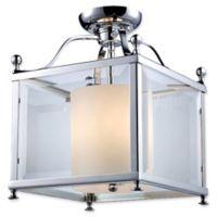 Filament Design Lena 3-Light Semi-Flush Mount Ceiling Fixture in Chrome