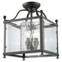 Filament Design Lena 3-Light Semi-Flush Mount Ceiling Fixture in Bronze