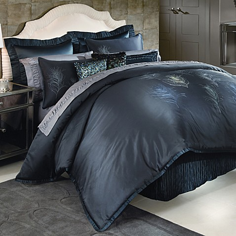 Nicole Miller Feathers California King Comforter Set