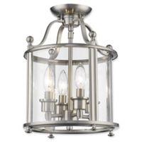 Filament Design Luisa 4-Light Semi-Flush Mount Ceiling Fixture in Brushed Nickel