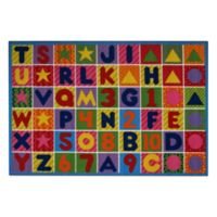 Numbers and Letters 8-Foot x 11-Foot Rug