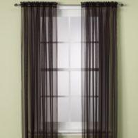 Elegance Sheer 63-Inch Window Curtain Panel in Onyx