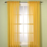 Elegance Sheer 63-Inch Window Curtain Panel in Mimosa