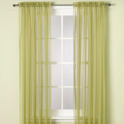 Elegance Sheer 63 Inch Window Curtain Panel In Citrus