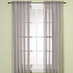 Elegance Sheer 63-Inch Window Curtain Panel in Silver