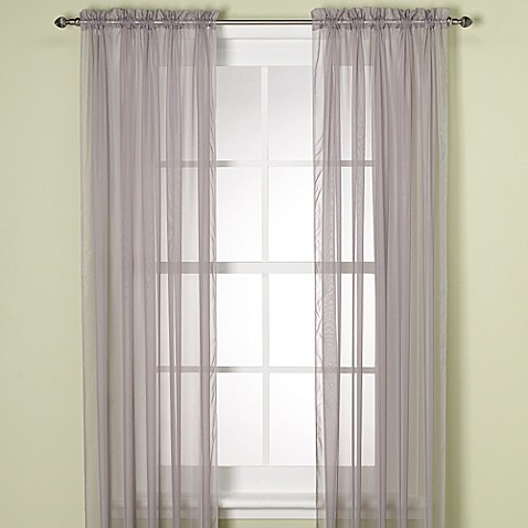 Buy elegance sheer 84 inch window curtain panel in silver from bed