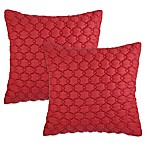 Asma Square Throw Pillows in Red (Set of 2)
