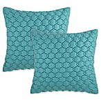 Asma Square Throw Pillows in Aqua (Set of 2)