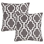 Gwyneth Geo Square Throw Pillows in Grey (Set of 2)