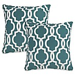 Gwyneth Geo Square Throw Pillows in Blue (Set of 2)