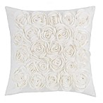 Rosey Square Throw Pillow in White