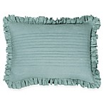 Wamsutta® Vintage Gauze Ruffle Oblong Throw Pillow in Aegean