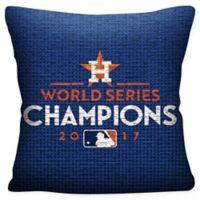 MLB Houston Astros 2017 World Series Champions Throw Pillow