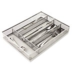 Mind Reader 5-Section Mesh Cutlery Trays in Silver (Set of 2)