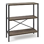 Pilsen 3-Shelf Bookcase in Grey
