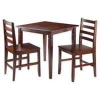 Windsome Trading Kingsgate 3-Piece Dining Set with Ladder-Back Chairs