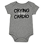 "Baby Starters® Size 12M ""Crying Is My Cardio"" Bodysuit in Grey"